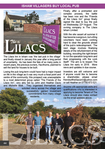 The Lilacs Inn in Isham
