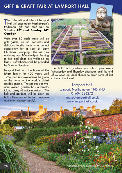 Gift & Craft Fair at Lamport Hall
