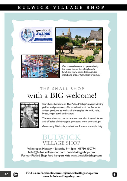 Bulwick Village Shop September 2018