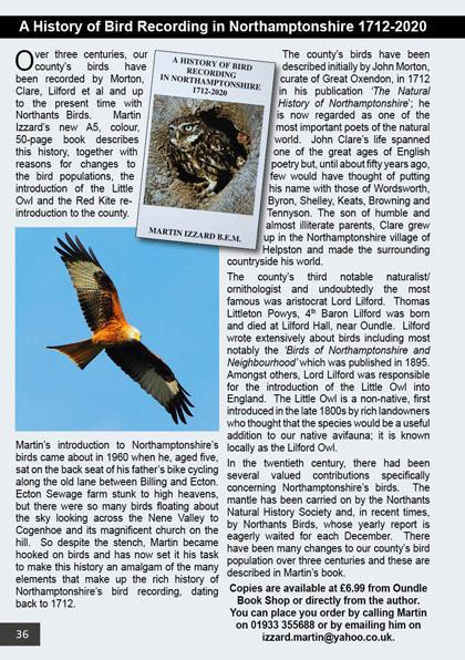 A History of Bird Recording in Northamptonshire 1712-2020