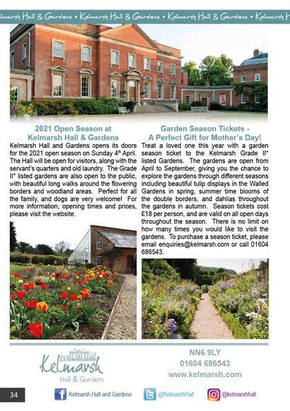 Kelmarsh Hall & Gardens March/April 2021