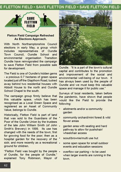 Save Fletton Field