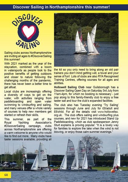 Discover Sailing in Northamptonshire this summer!