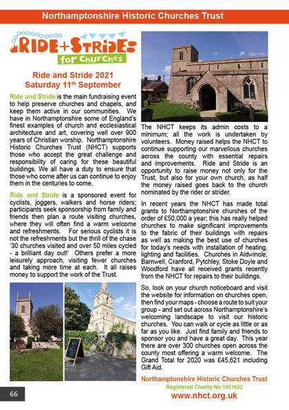Northamptonshire Historic Churches Trust 2021